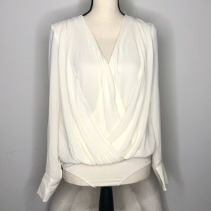 NY&C NWT White Blouse Body Suit in Sz XS